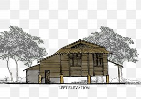 Balik Kampung - House Kampong Log Cabin Cottage Shed PNG