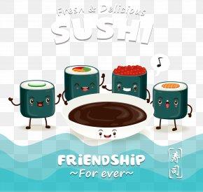 Cartoon Sushi Design - Sushi Sashimi Japanese Cuisine Onigiri Makizushi PNG