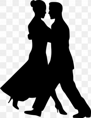 Silhouette - The Dancing Couple Dance Drawing Clip Art PNG