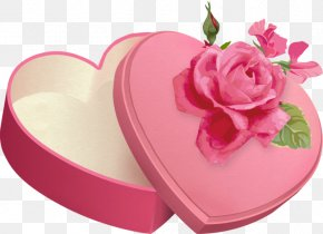 Pink Ring Box - Box Gift Garden Roses Paper PNG