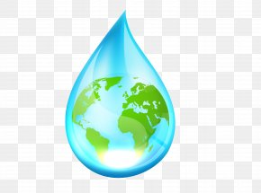 World Water Droplets - Earth World Water Day Environmental Protection PNG