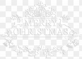 Merry Christmas White Transparent Clip Art Image - Paper Black And White Pattern PNG
