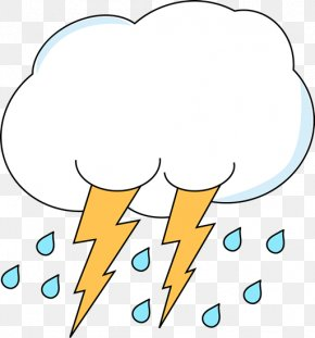 Cloud Lightning Cliparts - Lightning Cloud Rain Thunderstorm Clip Art PNG
