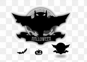 Black Bat - Halloween Bat Jack-o'-lantern Clip Art PNG
