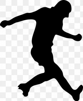 Soccer Player Silhouette - Football Player Silhouette Clip Art PNG