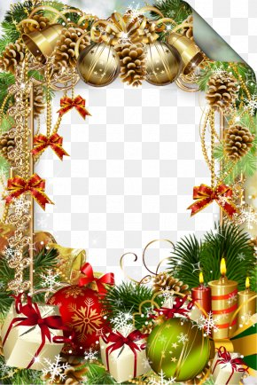Christmas Pine Cones Picture Frame - Christmas Ornament IPhone X Picture Frame PNG