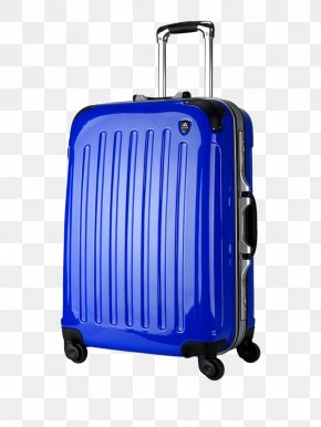 Deep Blue Suitcase - Hand Luggage Blue Travel Suitcase PNG