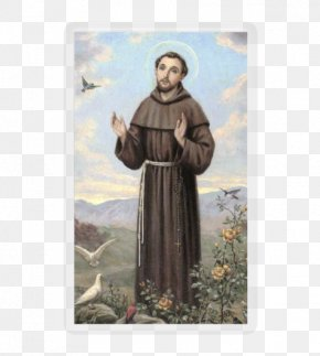 Francis Of Assisi - Saint Prayer Holy Card Religion Playing Card PNG