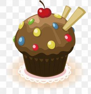Lovely Cake - Cupcake Birthday Cake Muffin Chocolate Cake Cream PNG
