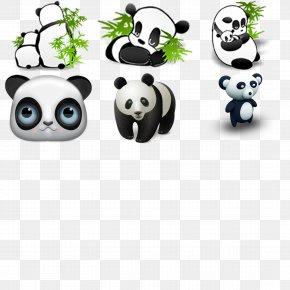 Hand-painted Panda - Giant Panda Cuteness Icon PNG