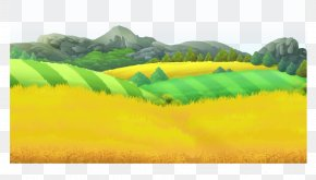 Golden Wheat - Farm Poster Wallpaper PNG