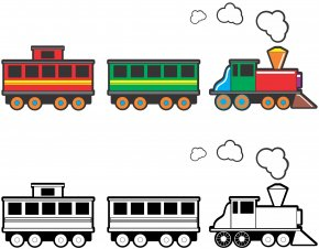 Boxcar Train Cliparts - Toy Train Rail Transport Clip Art PNG