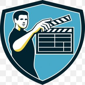 With The Log Card Retro Shield Staff - Clapperboard Movie Camera Film Camera Operator PNG