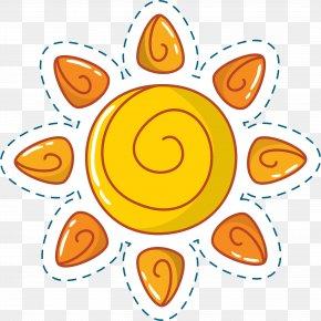 Cute Cartoon Sun - Cartoon Clip Art PNG