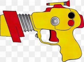 Laser Guns Trigger - Gun Clip Art Yellow Water Gun Cartoon PNG