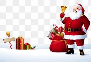Santa Claus - Rudolph Santa Claus Reindeer Christmas Illustration PNG