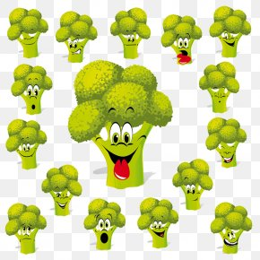 Smile Broccoli - Cartoon Broccoli Royalty-free Clip Art PNG
