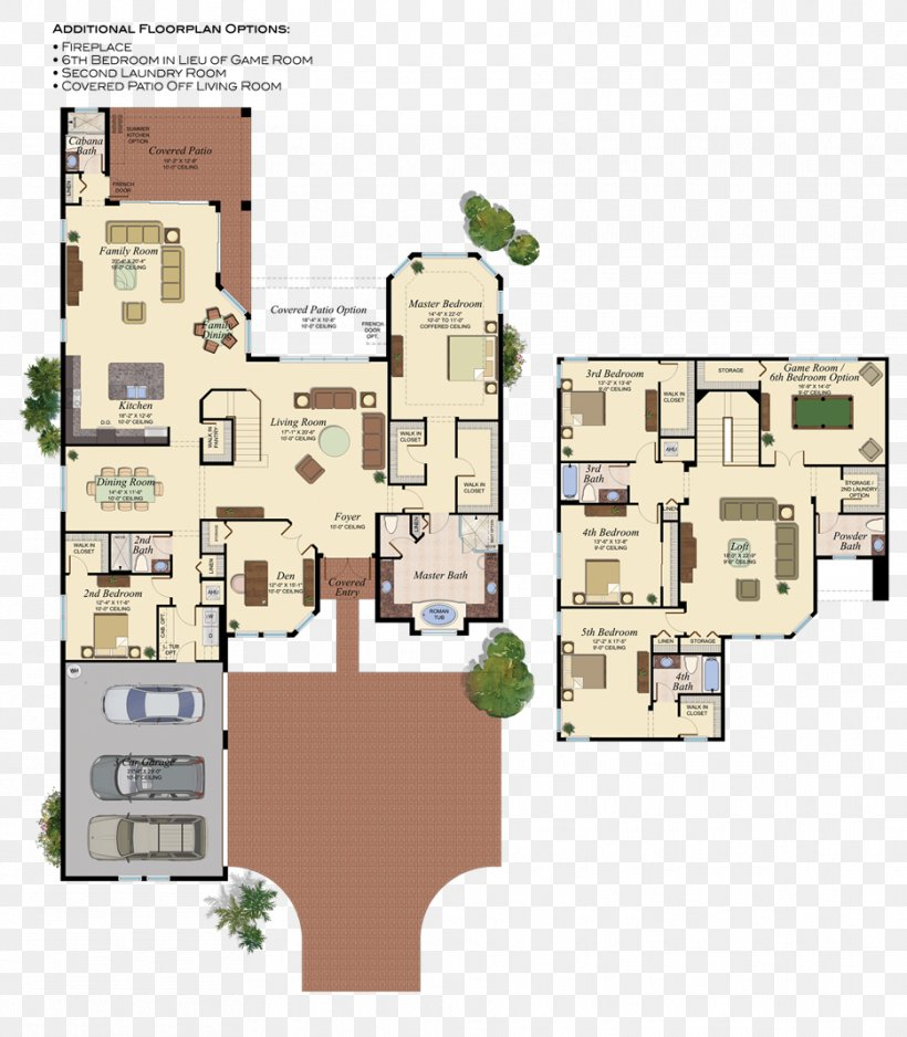 Delray Beach House Plan Floor Plan, PNG