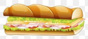Long Sandwich Vector Clipar - Hamburger Submarine Sandwich Pizza Panini Fast Food PNG