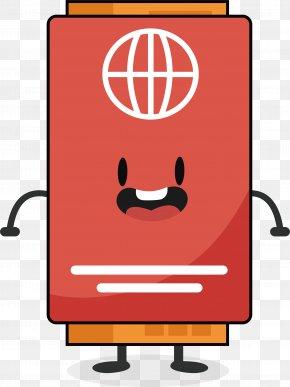 Red Cartoon Passport Ticket - Ticket Illustration PNG