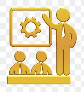 Symbol Yellow - Class Icon Business People Meeting Icon Human Pictos Icon PNG