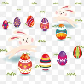 Easter Egg Bunny Illustration - Easter Bunny Easter Egg Rabbit Illustration PNG