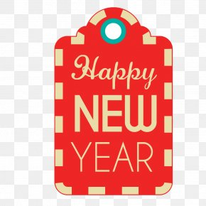 Happy New Year Festive Tag Vector - New Years Day Christmas Label PNG