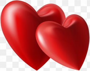 Two Hearts Clip Art Image - Heart Valentines Day Love Clip Art PNG
