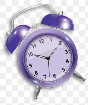 Purple Clock - Alarm Clock Icon PNG