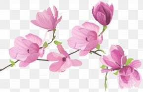 Spring Tree Flowers Clip Art Image - Flower Clip Art PNG
