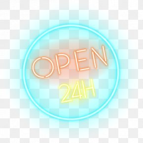 Open 24 Hours Neon Sign - Logo Stock Photography Brand Stock.xchng Font PNG