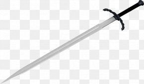 Sword Image - Sword Épée Black And White Design PNG