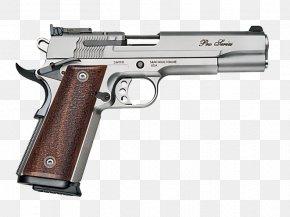 Handgun Transparent Background - Smith & Wesson SW1911 Pistol .45 ACP 9xd719mm Parabellum PNG