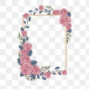 Flower Box Decoration - Wedding Invitation Paper Greeting Card Printing Label PNG