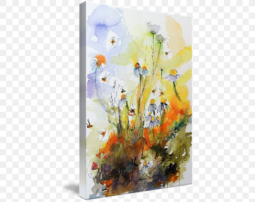 Floral Design Watercolor Painting Modern Art Acrylic Paint Still Life, PNG, 426x650px, Floral Design, Acrylic Paint, Acrylic Resin, Art, Artwork Download Free