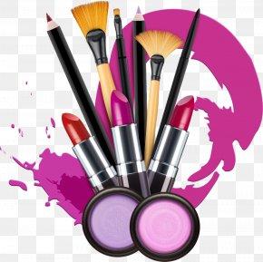 Vector Makeup - Cosmetics Lipstick Make-up Artist Stock Photography PNG