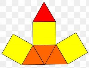 Pyramid - Elongated Triangular Pyramid Net Tetrahedron Triangle PNG