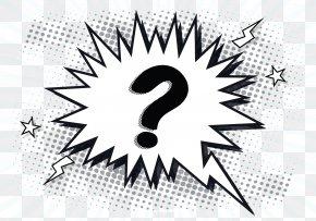 Explosion Question Mark - Question Mark Speech Balloon PNG