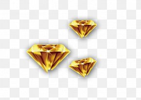 Gold Diamond - Colored Gold Diamond PNG