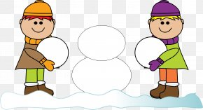 Children Playing - Snowman Clip Art PNG