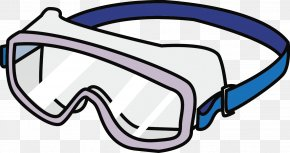 Goggles - Goggles Glasses New Year Card Clip Art PNG