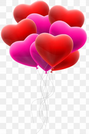Hearts Balloon Bunch Transparent Clip Art - Icon Clip Art PNG