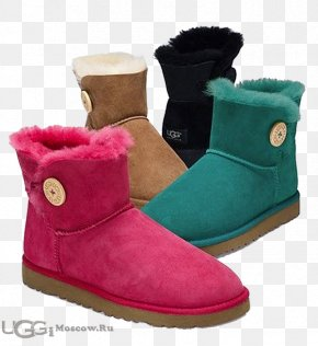 Boot - Snow Boot Shoe Ugg Boots Pink M PNG