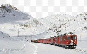 Retro Steam Train - Bernina Railway Train Rail Transport Steam Locomotive Wallpaper PNG