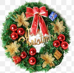 Christmas Wreath - Christmas Ornament Wreath Christmas Decoration Santa Claus PNG