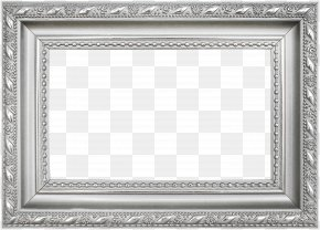 Silver Frame Pattern - Picture Frame Silver Icon PNG