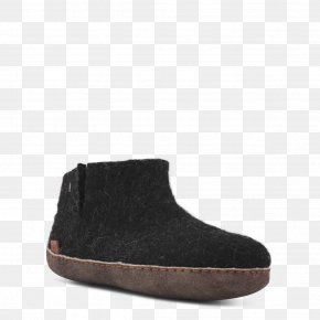 Boot - Suede Snow Boot Shoe PNG