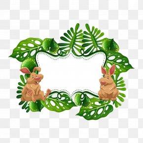 Vector Bunny Banner - European Rabbit Royalty-free Euclidean Vector Illustration PNG