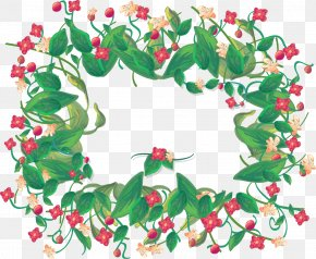 Vector Hand-painted Flowers Border - CorelDRAW PNG