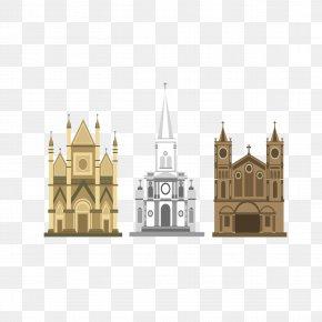Cartoon Church Design - Church Gothic Architecture Cartoon PNG